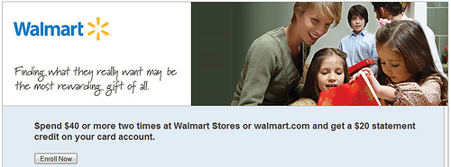 AMEX Walmart Promotion