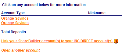 ING Direct ShareBuilder