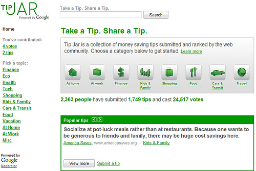 Google Tip Jar Lets You Take and Share Tips