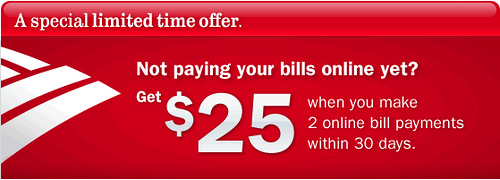 Bank of America $25 Bonus