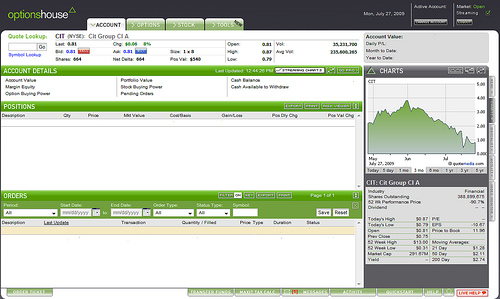 Optionshouse interface