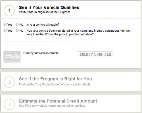 Cash for Clunkers Calculator