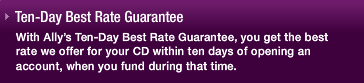 Ally Bank Rate Guarantee