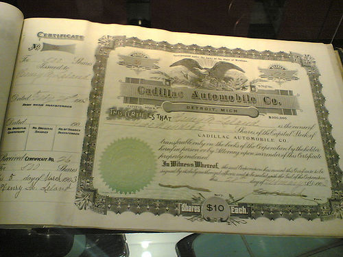 GM stock certificate