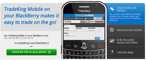 TradeKing Blackberry App