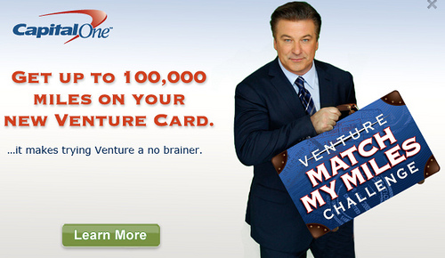 Capital One Venture Card Mileage Match